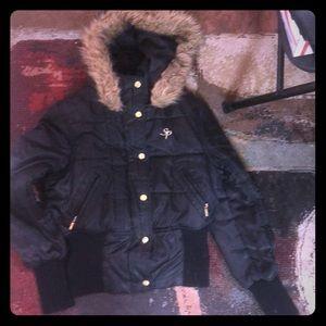 South Pole black medium winter coat